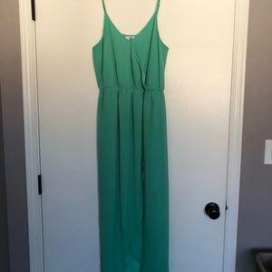 Sea-foam Green Maxi Lush Dress
